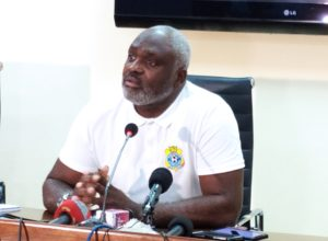 Christian N'Sengi-Biembe Sese Seko en conférence de presse ce mercredi 10 mars 2021