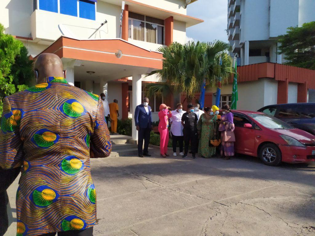 Jeu 08.04.21 Visite Mme Fatma SG FIFA à la FECOFA